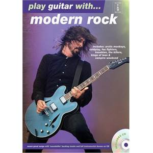 COMPILATION - PLAY GUITAR WITH MODERN ROCK + CD