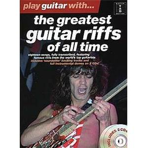 COMPILATION - PLAY GUITAR WITH THE GREATEST RIFFS OF ALL TIME GUIT. TAB. + CD