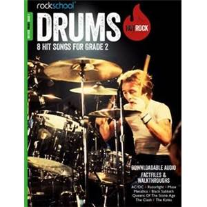 COMPILATION - ROCKSCHOOL HOT ROCK DRUMS GRADE 2 + DOWNLOAD CARD