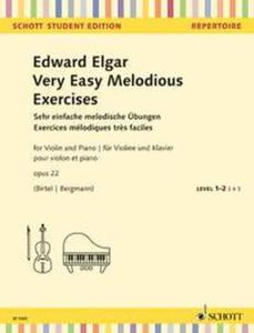 ELGAR EDWARD - VERY EASY MELODIOUS EXERCICES OP.22 - VIOLON ET PIANO