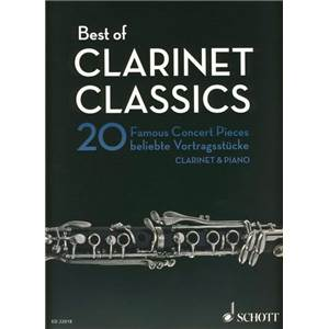 COMPILATION - BEST OF CLARINET CLASSICS (20 PIECES CELEBRES) - CLARINETTE ET PIANO