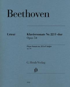 BEETHOVEN - SONATE No22 OP.54 EN FA MAJEUR - PIANO
