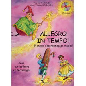 THARAUD/SZABADOS - ALLEGRO IN TEMPO + CD - EVEIL MUSICAL