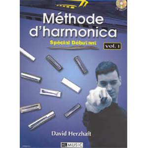 HERZHAFT DAVID - METHODE D'HARMONICA VOL.1 + CD