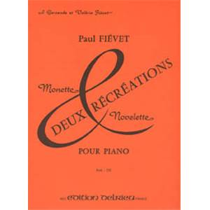 FIEVET PAUL - RECREATIONS (2) - PIANO