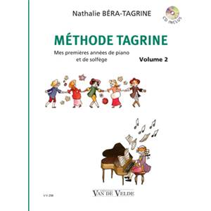 BERA TAGRINE NATHALIE - METHODE TAGRINE VOL.2 + CD - PIANO