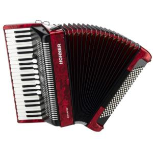 ACCORDEON PIANO HOHNER BRAVO III 96 BASSES ROUGE