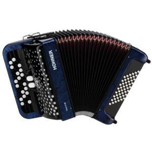 ACCORDEON BOUTONS HOHNER NOVAII 40 BLEU
