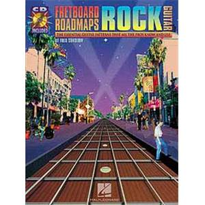 SOKOLOW FRED - FRETBOARD ROADMAPS ROCK GUITAR TAB. + CD