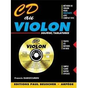 DARIZCUREN FRANCIS - CD AU VIOLON + CD / METHODE VIOLON