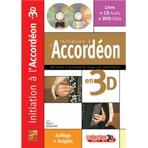 MAUGAIN MANU - INITIATION A L'ACCORDEON EN 3D + CD + DVD