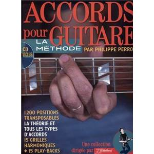 PERRON PHILIPPE - ACCORDS POUR GUITARE 1200 POSITIONS TRANSPOSABLES + CD