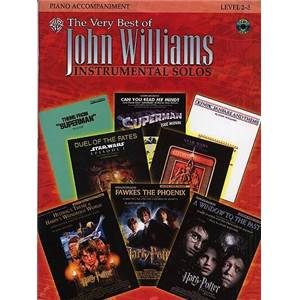 WILLIAMS JOHN - VERY BEST OF SOLOS PIANO ACCOMPANIMENTS + CD
