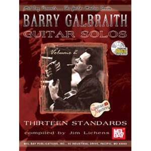 BARRY GALBRAITH - GUITAR SOLOS VOL.2 13 STANDARDS TAB. + CD