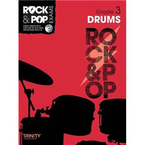 COMPILATION - TRINITY COLLEGE LONDON : ROCK & POP GRADE 3 FOR DRUMS + CD