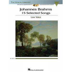 BRAHMS JOHANNES - 15 SELECTED SONGS LOW VOICE + CD