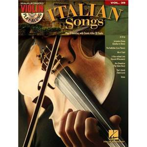 COMPILATION - VIOLIN PLAY ALONG VOL.039 ITALIAN SONGS + CD