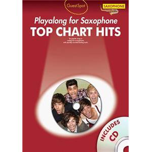 COMPILATION - GUEST SPOT TOP CHART HITS ALTO SAXOPHONE + CD