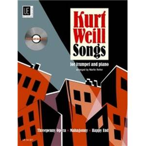 WEILL KURT - SONGS + CD TROMPETTE/PIANO