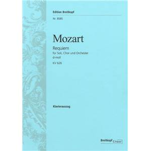 MOZART W.A. - REQUIEM KV626 RE MIN CHANT(SATB)/PIANO