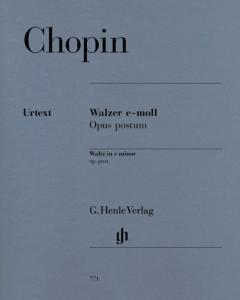 CHOPIN FREDERIC - VALSE OPUS POSTHUME EN MI MINEUR - PIANO