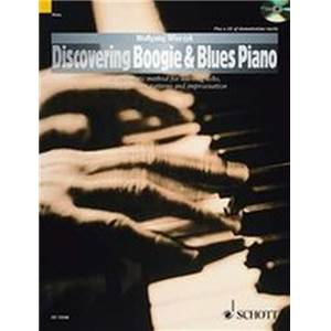 WIERZYK WOLFGANG - DISCOVERING BOOGIE AND BLUES PIANO + CD PIANO