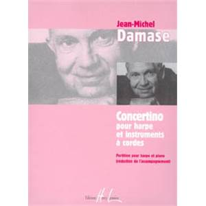 DAMASE JEAN-MICHEL - CONCERTINO POUR HARPE - HARPE ET PIANO (REDUCTION)
