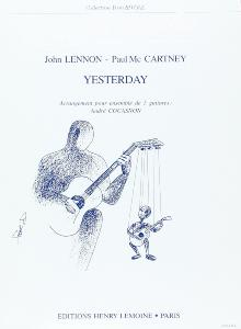 BEATLES THE - YESTERDAY ARRANGEMENT POUR 5 GUITARES