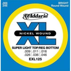 JEU DE CORDES GUITARE ELECTRIQUE D'ADDARIO EXL 125 SUPER LIGHT 9-42