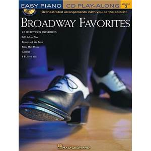 COMPILATION - EASY PIANO CD PLAY ALONG VOL.03 BROADWAY FAVORITES + CD