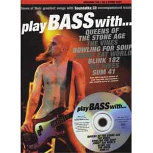 COMPILATION - PLAY BASS WITH QUEENS, SUM 41 , BLINK 182...TAB. + CD