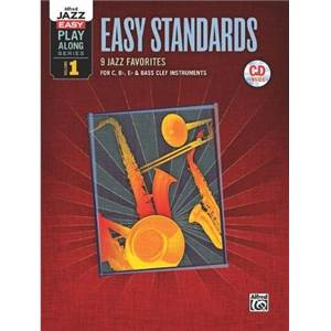 COMPILATION - EASY PLAY ALONG VOL.1 EASY STANDARDS FOR C, BB, EB AND BASS CLEF + CD