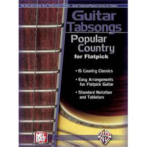 COMPILATION - GUITAR SONGS POPULAR COUNTRY FOR FLATPICK GUITAR TAB. + CD