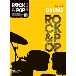 COMPILATION - TRINITY COLLEGE LONDON : ROCK & POP INITIAL FOR DRUMS + CD