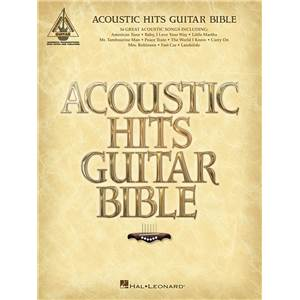 COMPILATION - ACOUSTIC HITS GUITAR BIBLE GUITAR TAB.