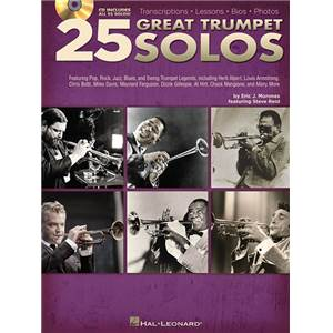 COMPILATION - 25 GREAT TRUMPET SOLOS TRANSCRIPTIONS LESSONS BIOS PHOTOS + CD
