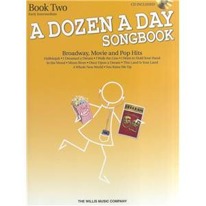 COMPILATION - DOZEN A DAY BOOK2 EARLY INTERMEDIAITE BROADWAY, MOVIE AND POP HITS SONG + CD