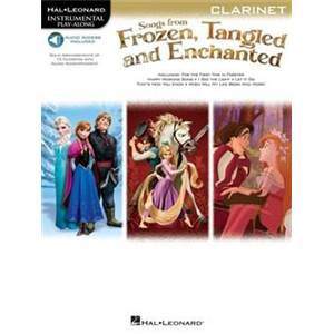 COMPILATION - INSTRUMENTAL PLAY ALONG SONGS FROM FROZEN, TANGLED AND ENCHANTED CLARINETTE + CD