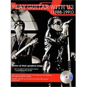 U2 - PLAY GUITAR WTH... 88 91 TAB. + CD