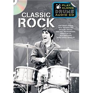 COMPILATION - CLASSIC ROCK PLAY ALONG DRUMS (FORMAT DVD) + CD