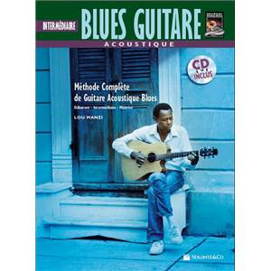 MANZI LOU - ACOUSTIC BLUES GUITAR INTERMEDIAIRE + CD