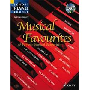 MUSICAL FAVOURITES (ARRANGEMENTS PAR GERLITZ CARSTEN) +CD - PIANO