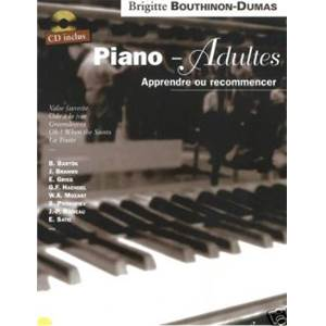 BOUTHINON DUMAS BRIGITTE - PIANO ADULTES APPRENDRE OU RECOMMENCER + CD