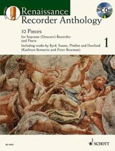 RENAISSANCE RECORDER ANTHOLOGY VOL.1 +CD - FLUTE A BEC SOPRANO ET PIANO