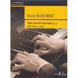 SCHUBERT FRANZ - MARCHES MILITAIRES (3) OP.51 - PIANO A 4 MAINS