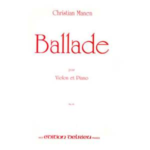 MANEN CHRISTIAN - BALLADE - VIOLON