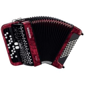 ACCORDEON BOUTONS HOHNER NOVAII 40 ROUGE