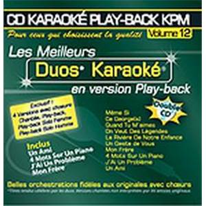 COMPILATION - CD DOUBLE KARAOKE VOL.12 DUOS AVEC CHOEURS (HOMME/FEMME) + VERSIONS CHANTEES
