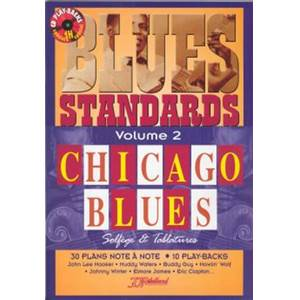 REBILLARD JEAN JACQUES - BLUES STANDARDS CHICAGO BLUES VOL.2 SOL ET TAB. + CD