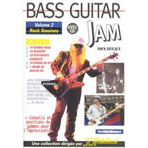 MALAPERT GILLES - BASS GUITAR JAM ROCK SESSIONS SESSIONS VOL.2 + CD